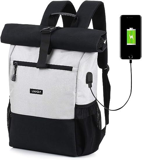 50% off lowest discount super popular Amazon.com: Lixada Roll Top Laptop Backpack Lightweight RollTop ...
