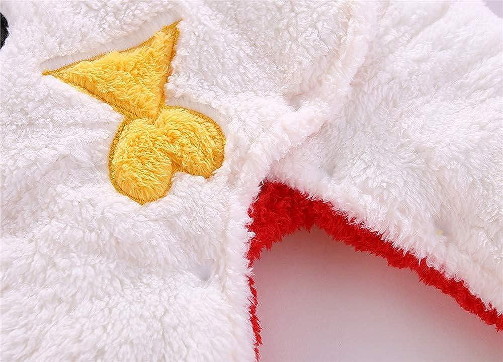 Newborn Infant Baby Boy Girl Winter Snowsuits Snow Clothes Solid Cartoon Bear Velvet Hoodie Outerwear 3-12 Months
