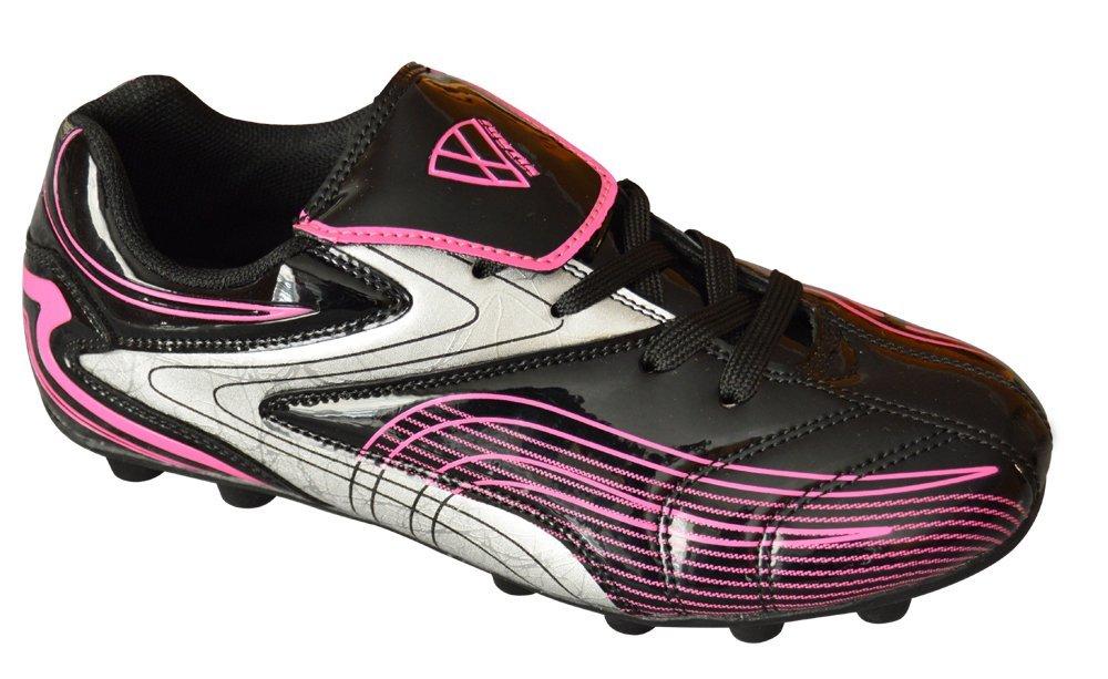 Vizari Striker Sneaker, Black/Pink, 4 M US Big Kid