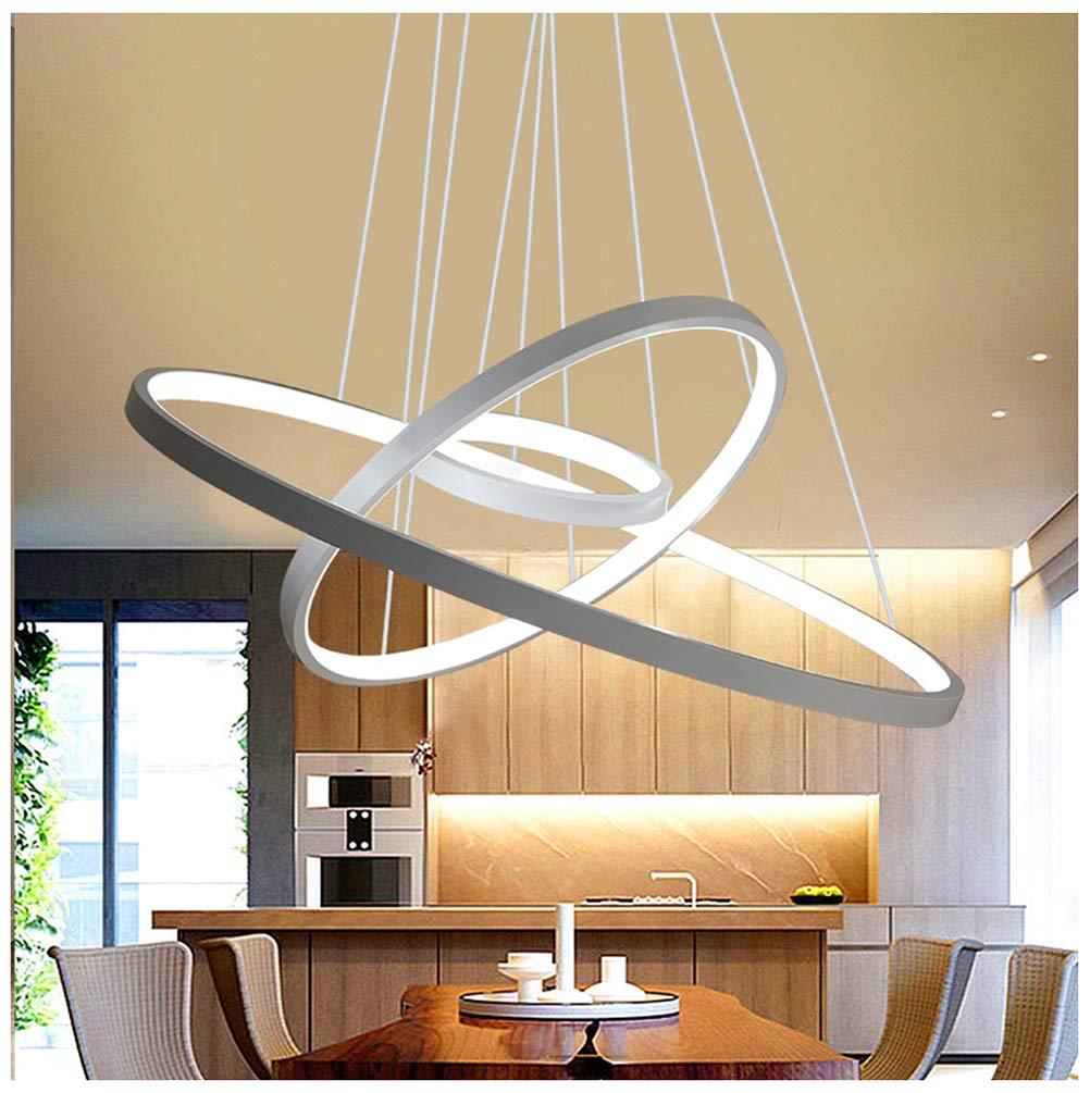 雪丽的家居 現代のミニマリストペンダントライト雰囲気ホームLEDシャンデリアレストラン研究寝室天井照明クリエイティブランプ - ホワイト   B07TN4ZR55