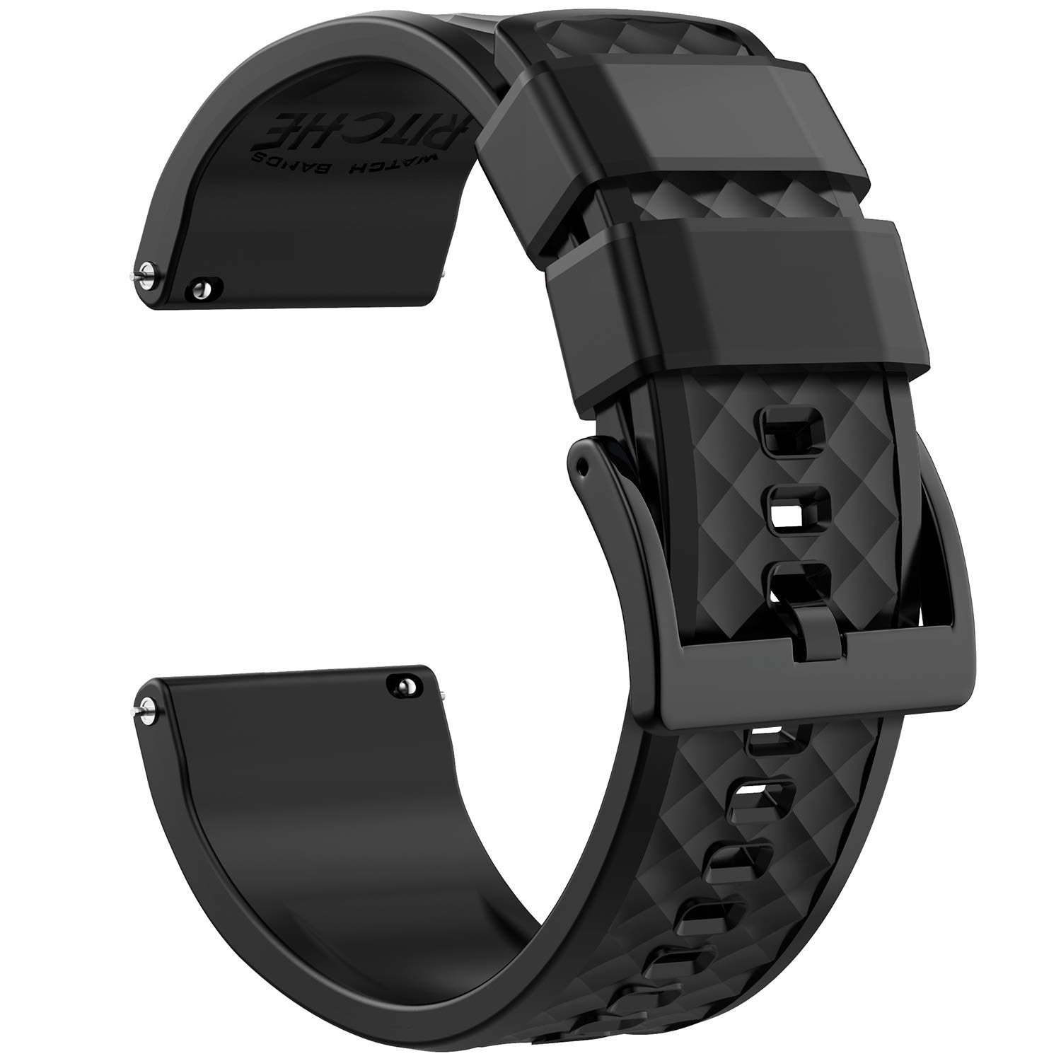 22mm Silicone Watch Bands Compatible with Samsung Gear S3 Classic Watch Quick Release Rubber Watch Bands for Men by Ritche