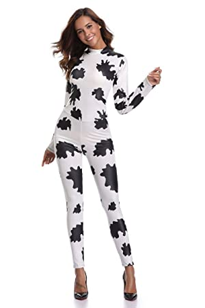 bb1460d796b Sexy catsuit Black and white striped zebra Siamese costumes Halloween cosplay  costume Long Sleeve Skinny Long