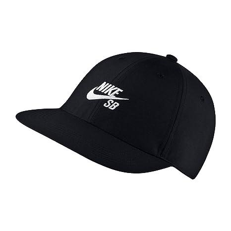 Amazon.com  Nike Mens U NK H86 Cap Flatbill AA9974-011 - Black White ... bdb61ab34a4