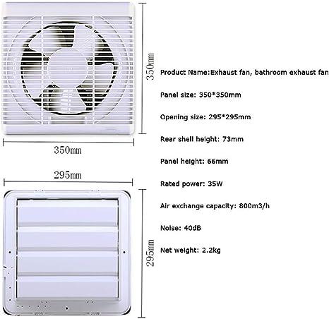 JKL Ventiladores de Escape del hogar 10 Escape de Cocina Potente Campana extractora de Pulgadas Tipo de Ventana silenciosa Ventilación: Amazon.es: Deportes y aire libre