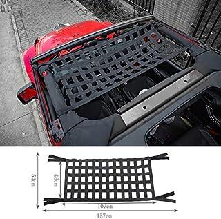 Highitem Black Multifunctional Cloth Car Top Roof Hammock Car Bed Rest Storage Network Cover for Jeep Wrangler TJ JK JL 1997-2018