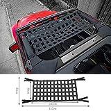 Highitem Black Multifunctional Cloth Car Top Roof Hammock Car Bed Rest Storage Network Cover for Jeep Wrangler JK 2007-2017