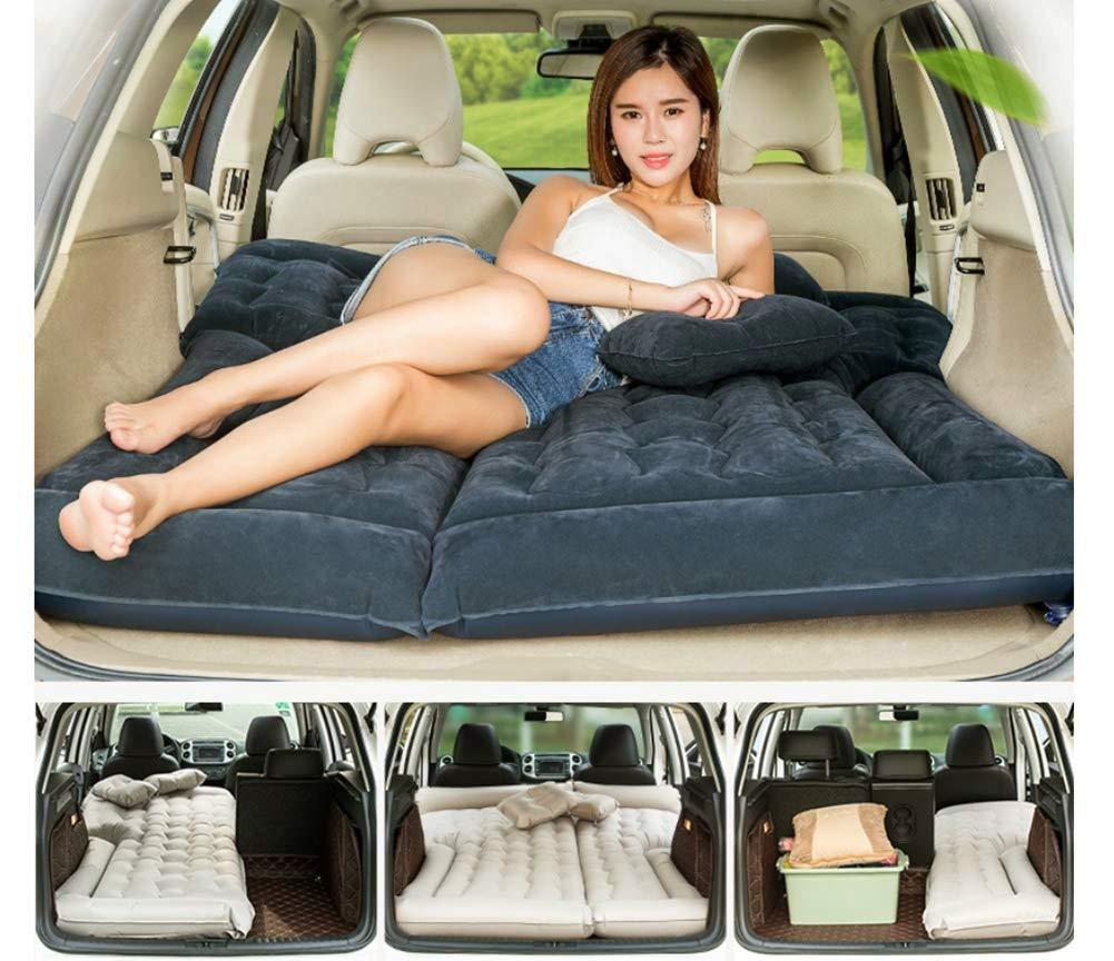 Sinbide Luftbett f/ür Auto Matratze aufblasbares Bett Air Bett f/ür Camping Outdoor Auto Luftmatratzen mit Luftpumpe Auto Matratze Aufblasbares Bett f/ür den Auto-R/ücksitz mit Kissen und Fu/ßraum-St/ütze