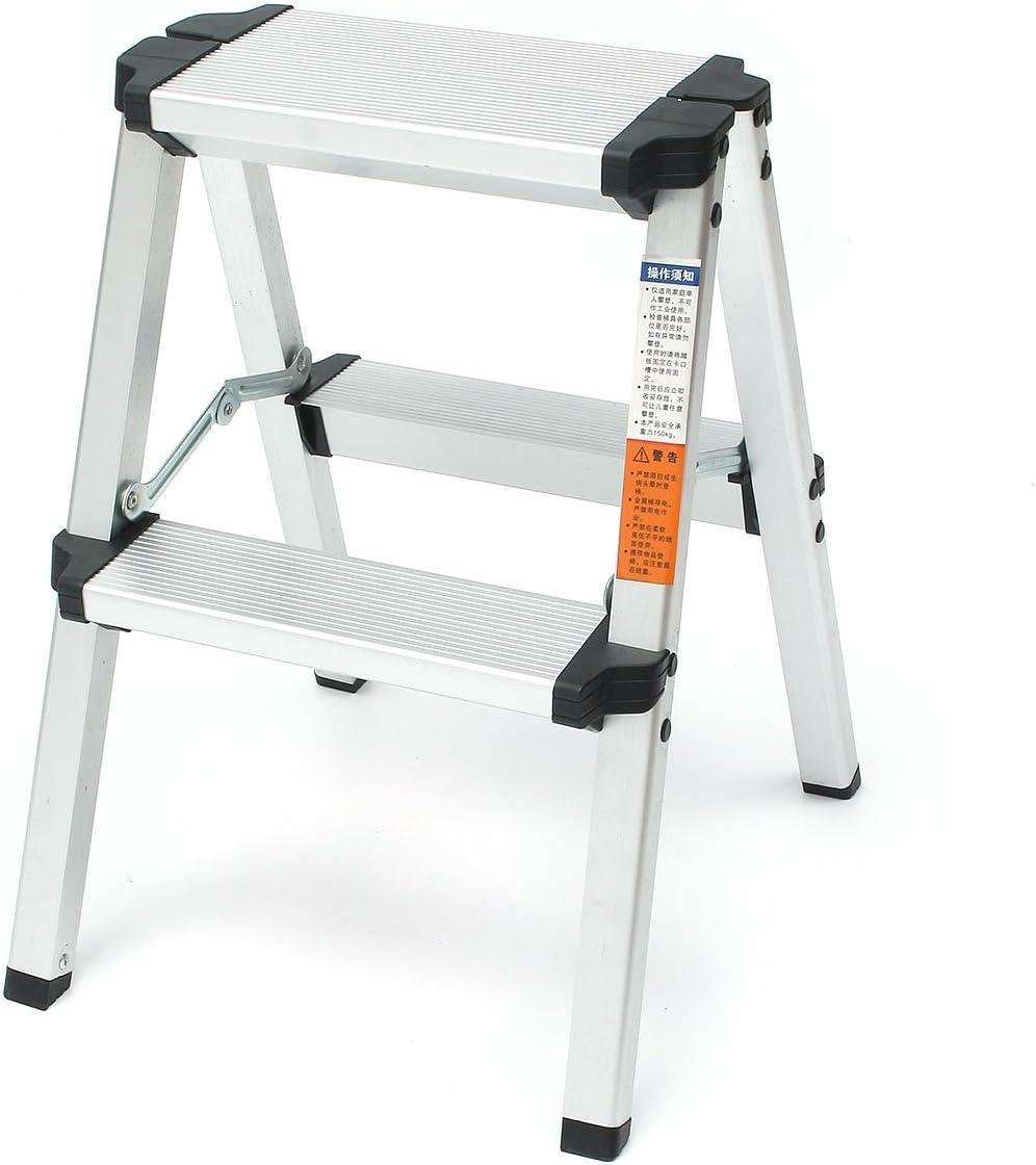 HELEISH Escalera anti-deslizante de aluminio de la seguridad antideslizante de la escalera del taburete de la carga máxima 2 de 150KG Herramienta accesoria: Amazon.es: Bricolaje y herramientas