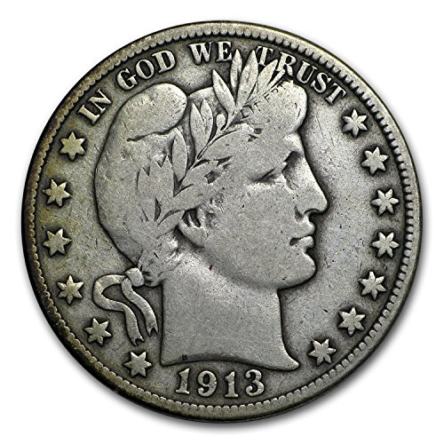 1913 D Barber Half Dollar Fine Half Dollar Fine