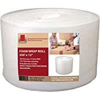 """UBOXES Foam Wrap Roll 320' x 12"""" Wide 1/16 Thick Cushion - 12"""" Perforation"""
