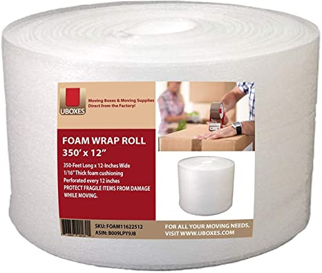 UBOXES Foam Wrap Roll 320 x 12