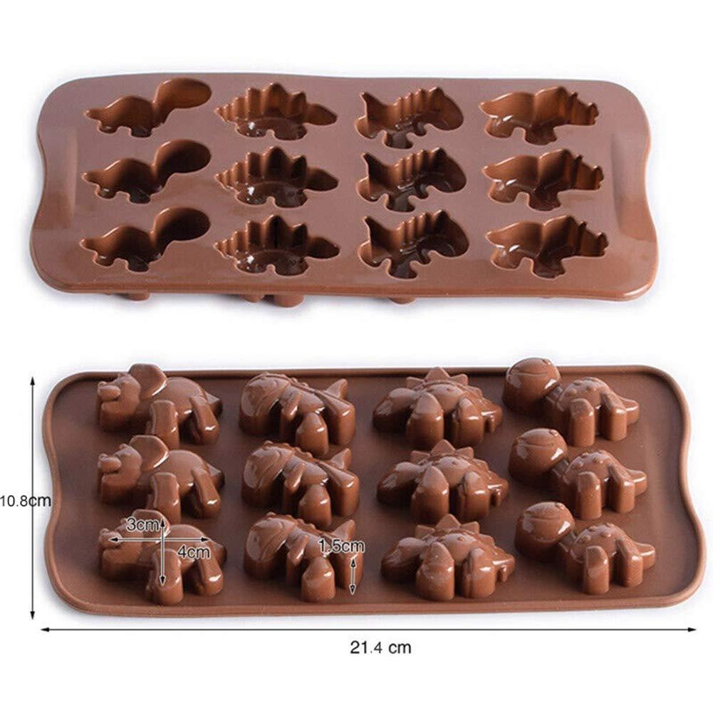 Backwerkzeug multi Dinosaurier-Design Fondant Dekoration Schokolade Silikonform f/ür Kuchen