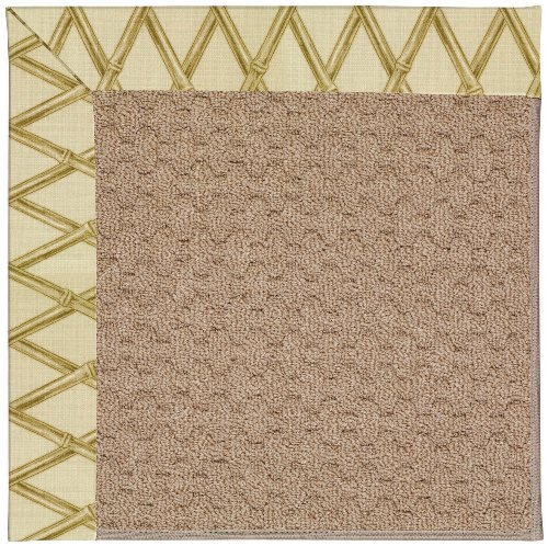 Capel Bamboo (Capel Rugs Zoe-Grassy Mountain Rectangle Machine Tufted Area Rug, 7' x 9', Bamboo)