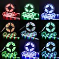 Richsing LED Strip Lights 32.8ft Waterproof Flexible Rope Lights RGB SMD2835 600LEDs 2-Pack With 12V Power Adapter 44Key Remote For Home Garden Party Outdoor