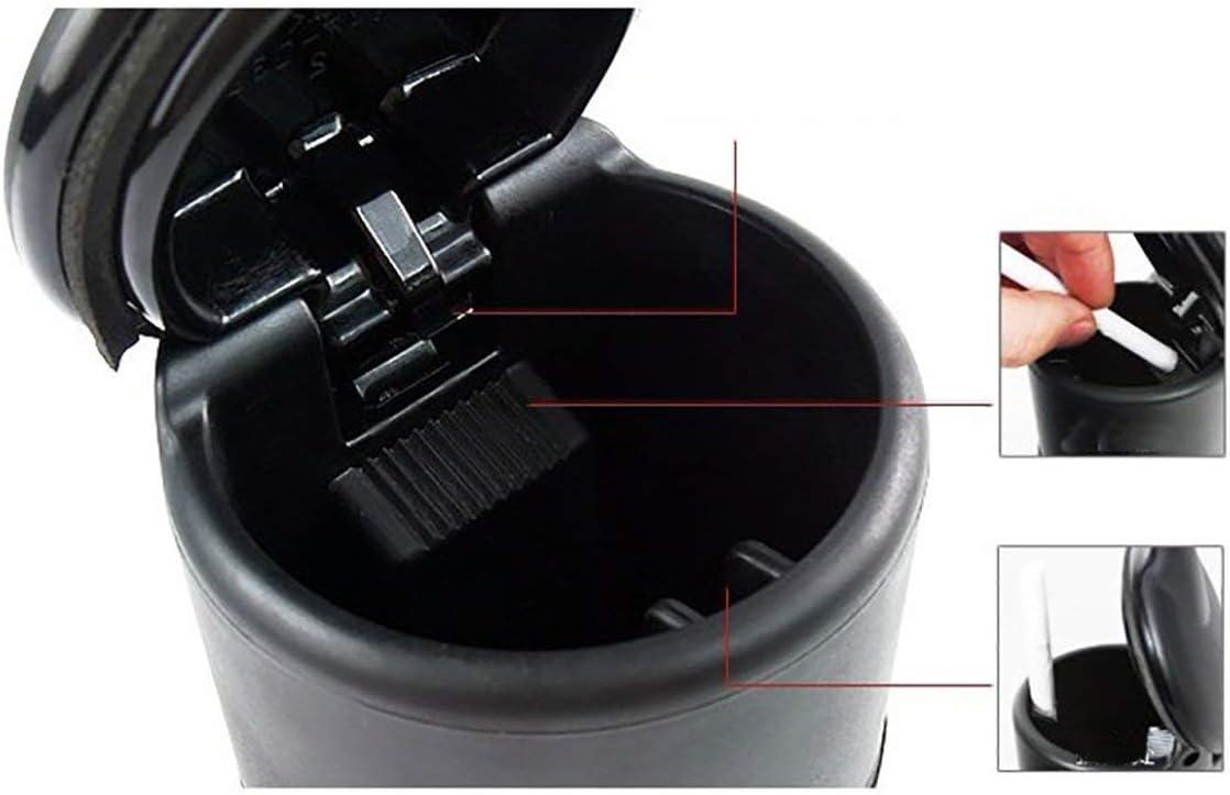 Lodenlli Cenicero de Coche Material de Pbt ign/ífugo de Alta Densidad Accesorios de Interior de Coche de Resistencia a Altas temperaturas
