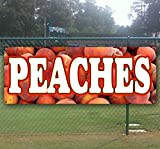 Georgia Peaches 13 oz Heavy Duty Vinyl Banner Sign with Metal Grommets, New, Store, Advertising, Flag, (Many Sizes Available)