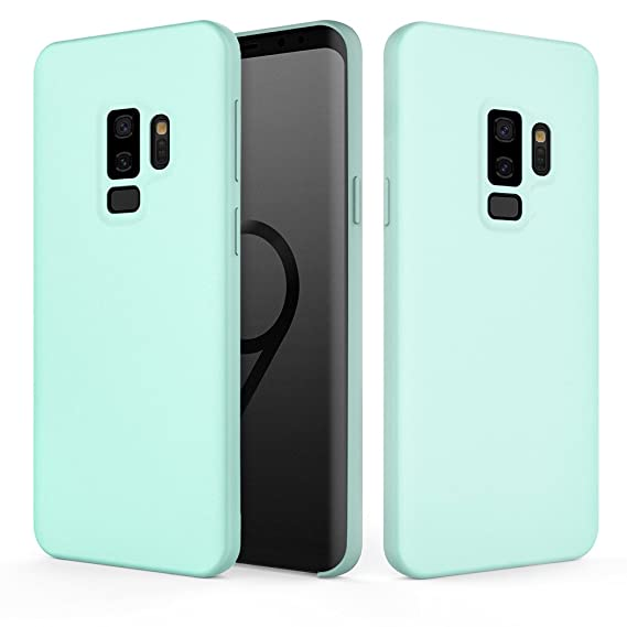 Galaxy S9 Plus Case, Fuleadture Liquid Silicone Gel Rubber Case Shockproof Slim Soft Protective Cover with Microfiber Cloth Lining Cushion for Samsung ...