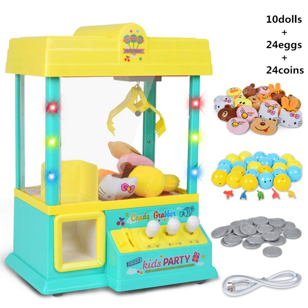 GUSENG Claw Machine Music Light 60s Time Candy Grabber Prize Dispenser Vending Machine Birthday for Boys Girls