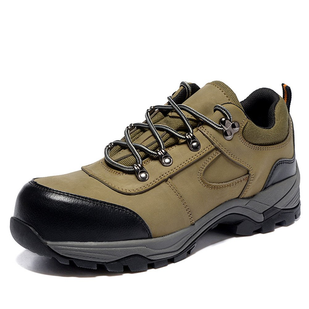 ASO-SLING Hiking Boots for Mens PU Upper Breathable Outdoor Waterproof Low-Profile Lace Up Trekking Shoes,7 B(M) US