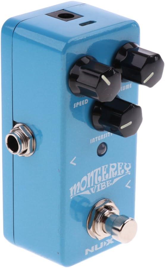 MagiDeal Guitarra Efector Fuente de Alimentación de Reverberación Digital 9V Acompañamiento