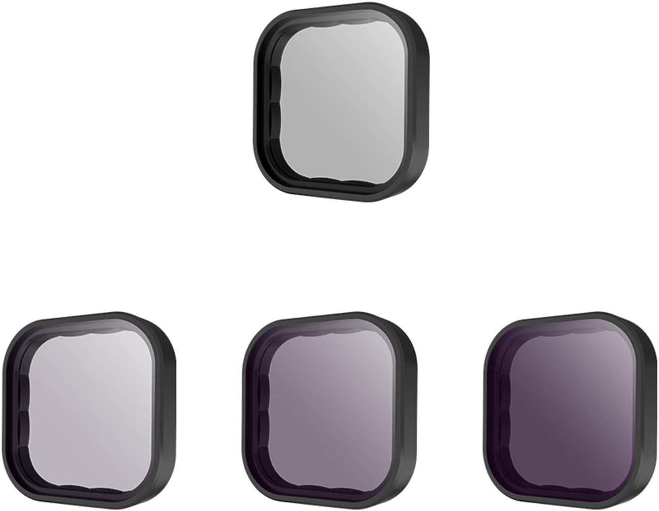 TELESIN Kit de filtro de lente ND8 ND16 ND32 CPL para cámara de acción GoPro Hero 9, densidad neutra y polarizante, kit de filtro de lente protector de lente para accesorios Go Pro 9