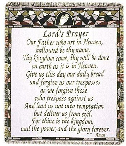 (Simply Home The Lord's Prayer Religious Afghan Throw Blanket 48