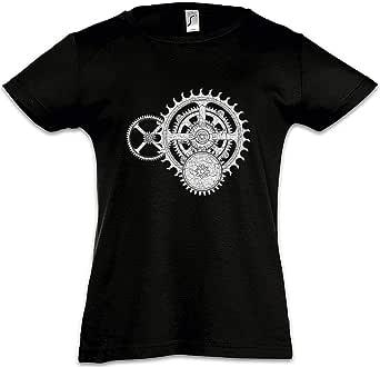 Urban Backwoods Mechanism I Camiseta para Niñas Chicas niños T-Shirt Black