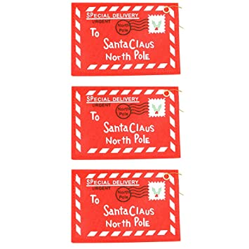 amazon com bestoyard 3pcs christmas envelopes santa claus gift