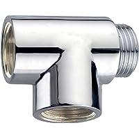 Cornat TEC386203 T-stuk 1/2 inch buitendraad x 1/2 inch binnendraad x 1/2 inch binnendraad, chroom