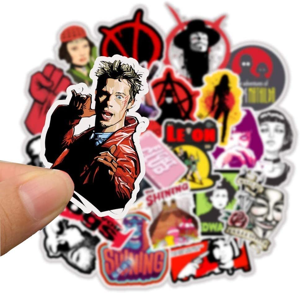 Classic Movie Character Laptop Stickers - Decals Vinyl Waterproof for Water Bottle Cars Motorcycle Bicycle Bumper Skateboard Luggage iPad Phone Case DIY Decoration Gift 48 pcs