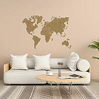 Mapamundi decorativo para pared en MDF natural de diferentes tamaños • 100x60cm | 160x100cm | 200x120 cm Mapas de Pared…