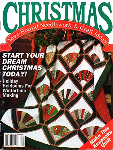- Christmas vintagage pattern magazine - Fan quilt, sewing, cross stitch, needlepoint - 1991