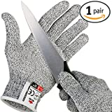 NoCry Cut Resistant Gloves with Secure-Grip Microdots and Level 5 Cut Protection. Comfort-Fit. Food Grade, Size Small. Includes Free eCookbook!
