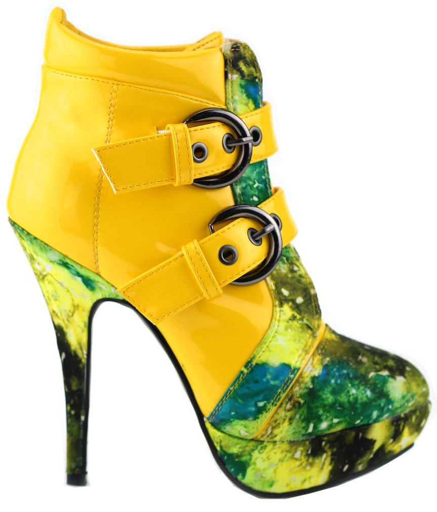 Show Story - Botas estilo motero mujer37 1/3 EU amarillo