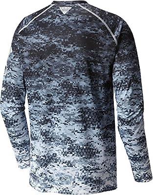 8b24dd70ceca1 Columbia Terminal Tackle Camo Fade Mens Shirt. Columbia Mens PFG Terminal  Tackle Camo Fade Long Sleeve Shirt (Cool Grey Tarpon Digi,