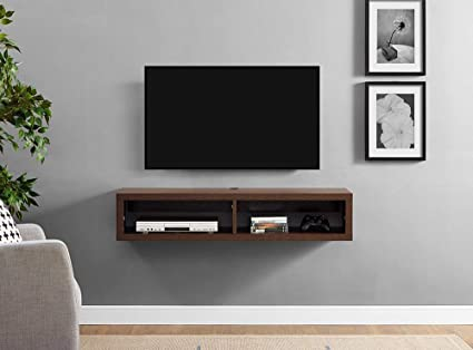 hot sale online 5fb91 8835f Wooden History Floating Wooden TV Wall Mount Shelf TV ...