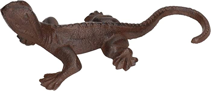 AB Tools Gecko Lizard Garden Sculpture Ornament Statue Metal Decoration Animal Lawn