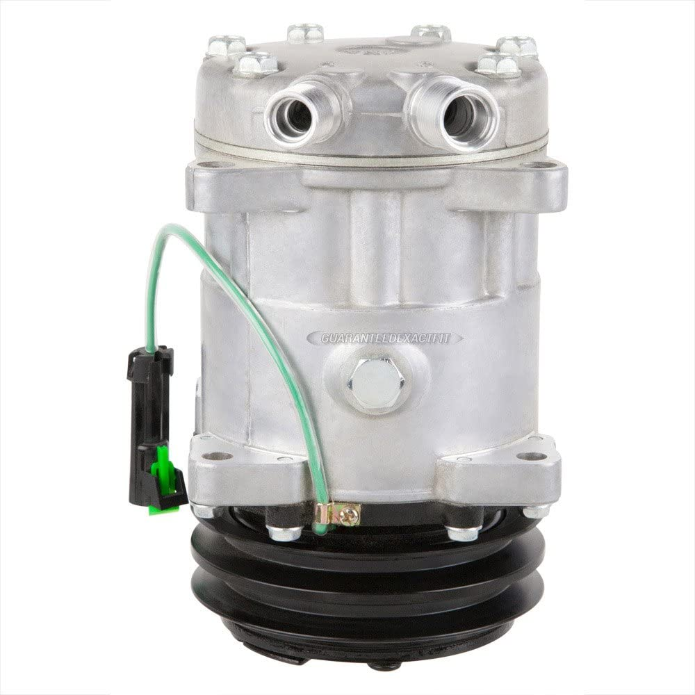 AC Compressor /& 2 Groove 125mm A//C Clutch Replaces Sanden SD7H15HD 4652 7824 8061 w// 24v Clutch Switch BuyAutoParts 60-02107NA New