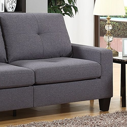 Fernanda Grey Fabric Sofa And Loveseat
