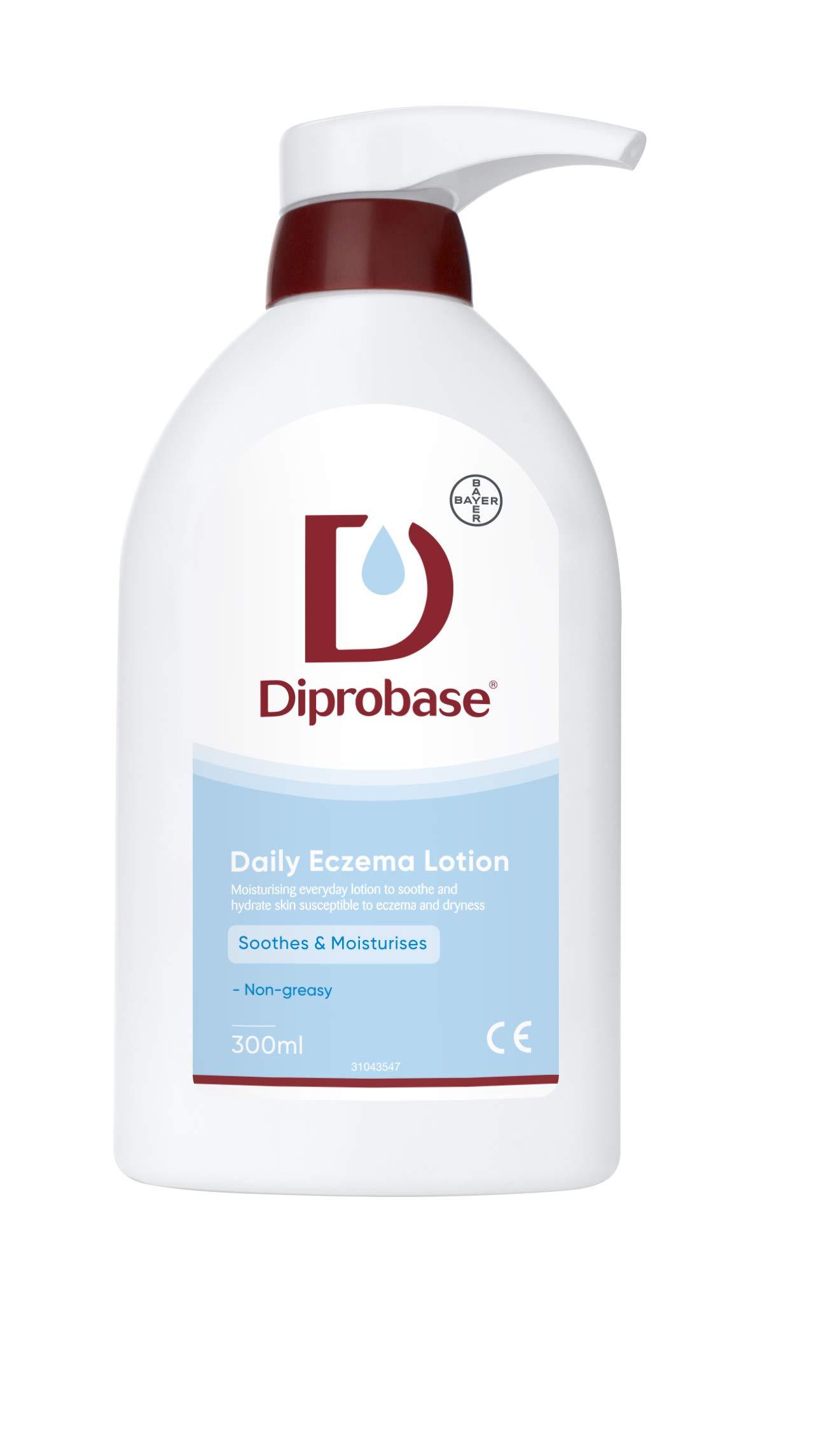Diprobase Daily Eczema Lotion 300 ml Moisturiser for Eczema Prone and Dry Skin