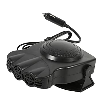 Keenso Tragbarer Auto Heizungsl/üfter des Auto 12V Fahrzeug Heizungs Ventilator Defroster Winter 150W mit Halter