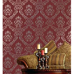 "Large Wall Damask Stencil Faux Mural Design #1056 13"" x 16"""