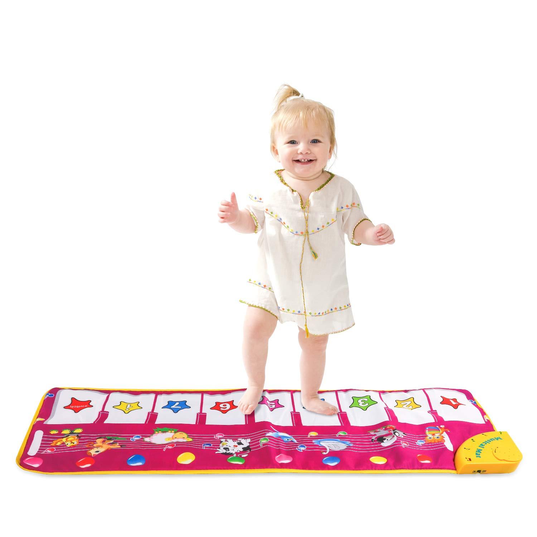 M SANMERSEN Piano Mat, Musical Dance Mat Keyboard Playmat Electronic Music Playmat Carpet Blanket for Kids Toys for 3-6 Year Old Girls 3 4 5 6 Year Old Girl Gifts