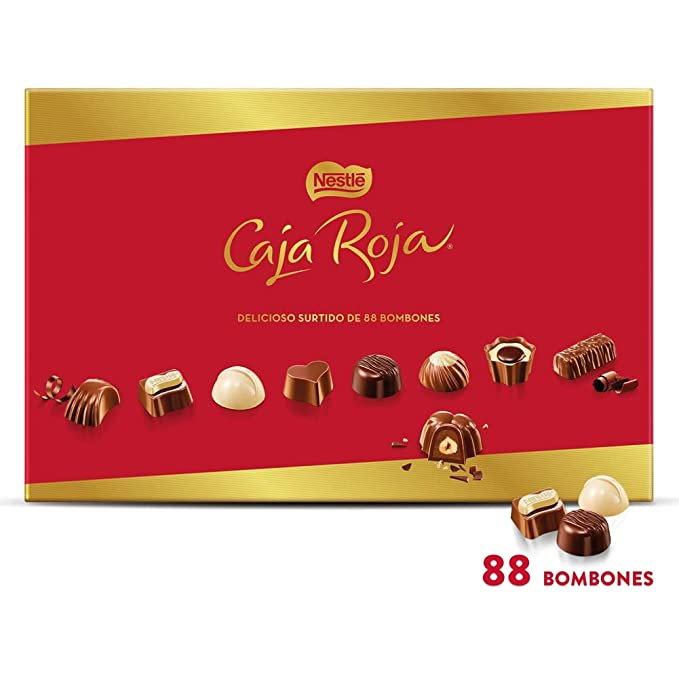 NESTLÉ CAJA ROJA Bombones de Chocolate - Estcuche de bombones 800 g