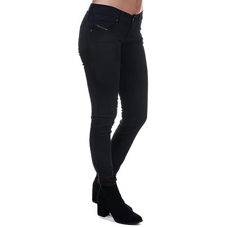 Diesel Damen Stretch Jeans Grupee 0800R Superslim Skinny schwarz