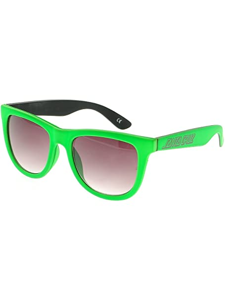 Santa Cruz Gafas de sol Neon Strip Shades Verde Neon: Amazon ...