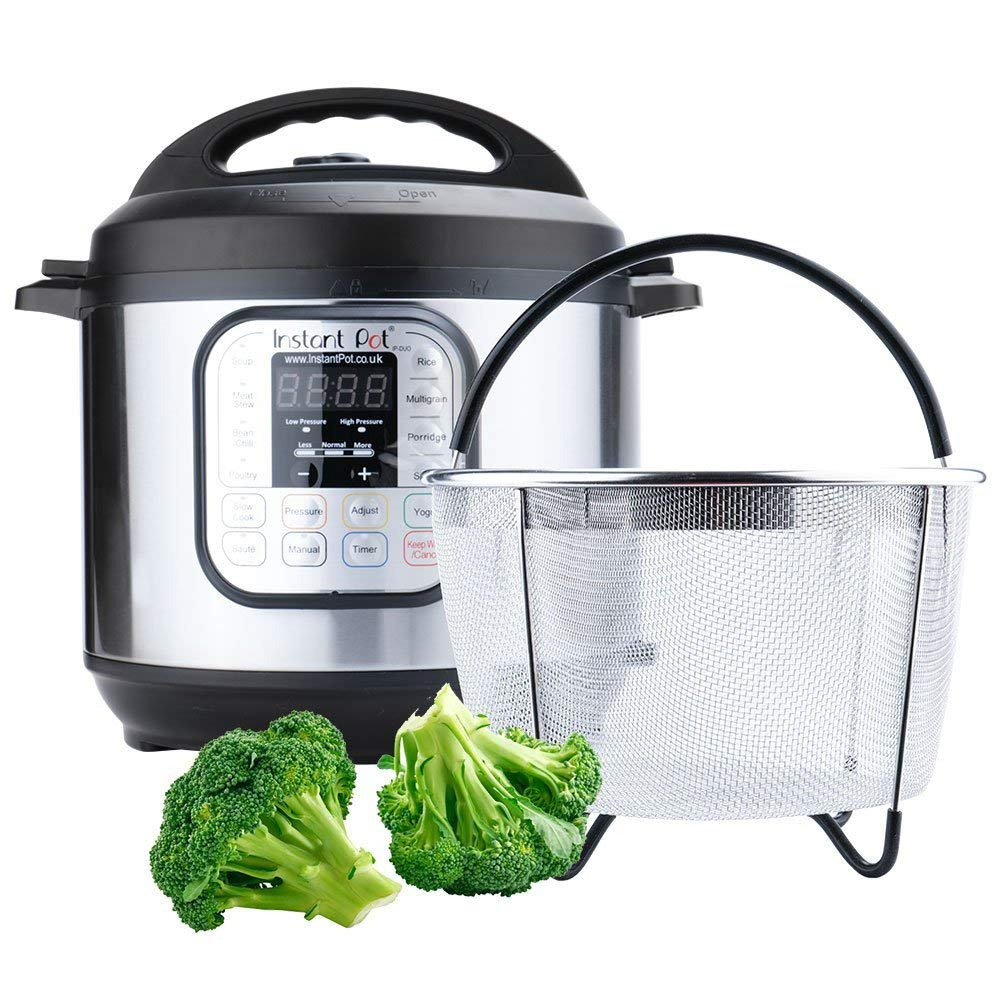 Instant Pot Accessories 6 and 8 qt Steamer Basket, Fits InstaPot Pressure Cooker, Insta Pot Ultra Egg Basket w/Silicone Handle and Non-Slip Legs (Instant Pot 6 and 8 Quart) by Unique Impression (Image #4)
