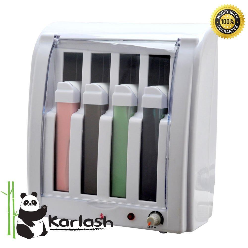 Karlash Roll On Electric Hot Depilatory Wax 4 Cartridge Heater Waxing Hair Removal Epilate