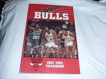1981 1982 Chicago Bulls Nba Basketball Yearbook Media Guide Artis