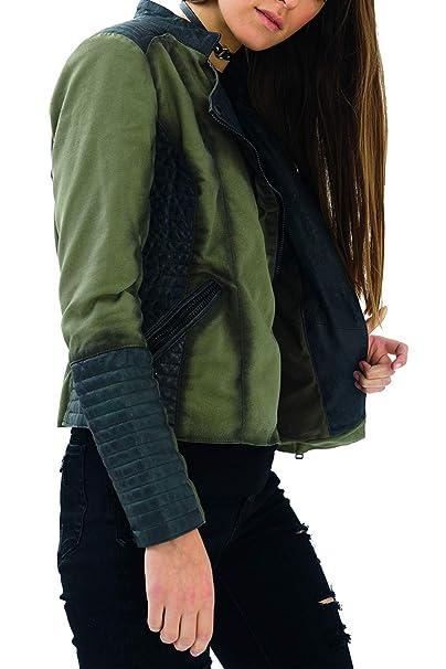 trueprodigy Casual Mujer Marca Chaqueta Moto Basico Ropa Retro Vintage Rock Vestir Moda Militar Deportivo Slim Fit Designer Cool Urban Fashion Jacket con ...